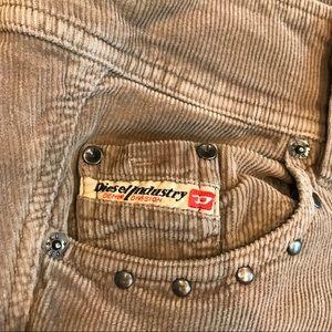CCO Diesel women's corduroy button fly pants